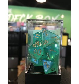 7- Dice Set BOREALIS 7-DIE SET LIGHT GREEN/GOLD LUMINARY