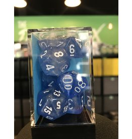 7- Dice Set BOREALIS 7-DIE SET SKY BLUE/WHITE LUMINARY
