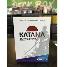 Katana UG SLEEVES KATANA RED 100CT