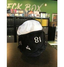 Dice Bag UP DICE BAG BLACK D20 PLUSH