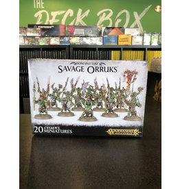 Age of Sigmar Savage Orruks / Savage Orruk Morboys / Savage Orruk Arrowboys