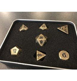 7-Die Set METAL FORGE DICE SET - ANCIENT GOLD