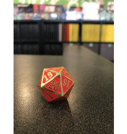 Life Counter METAL MTG ROLL DOWN COUNTER SHINY GOLD W/ RED