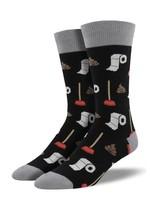 Socksmith Canada Inc MEN'S POTTY PARTY SOCKS MNC677-BLK