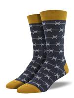 Socksmith Canada Inc MEN'S KEEP OUT SOCKS MNC2107-CHH
