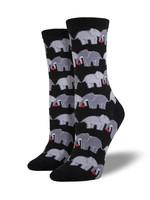 Socksmith Canada Inc WOMEN'S ELEPHANT LOVE SOCKS SSW1302-BUT