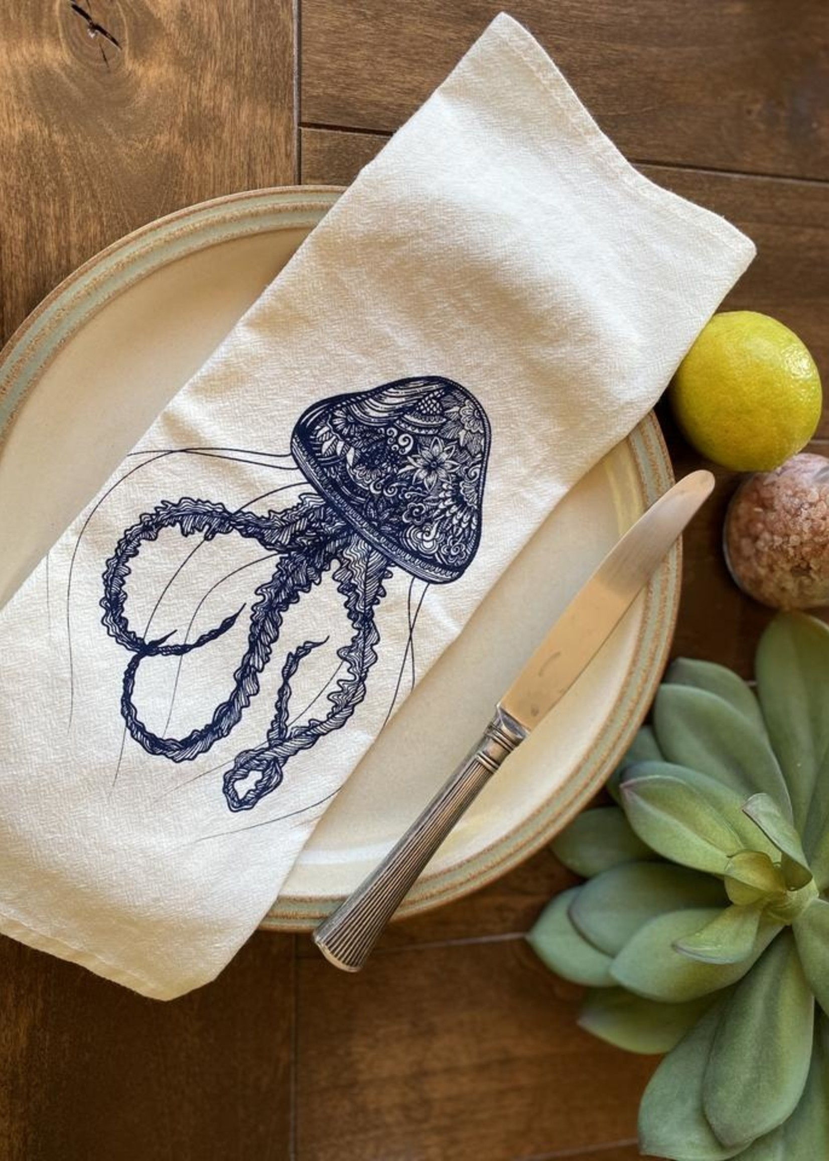 Your Green Kitchen JELLYFISH NAPKIN SET OF TWO