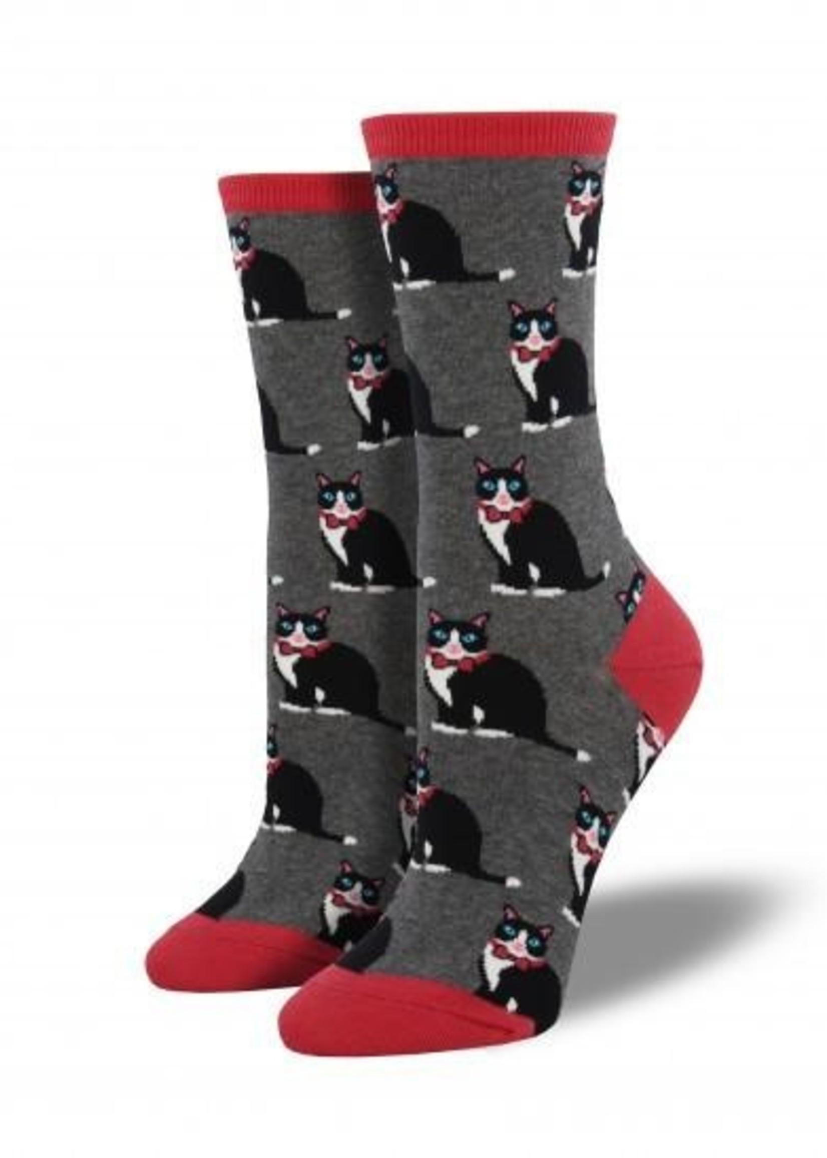 Socksmith Canada Inc WOMEN'S TUXEDO CATS SOCKS