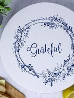 Your Green Kitchen BOWL COVER LARGE GRATEFUL