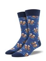 Socksmith Canada Inc MEN'S SIGNIFICANT OTTER SOCKS MNC1633-BLU