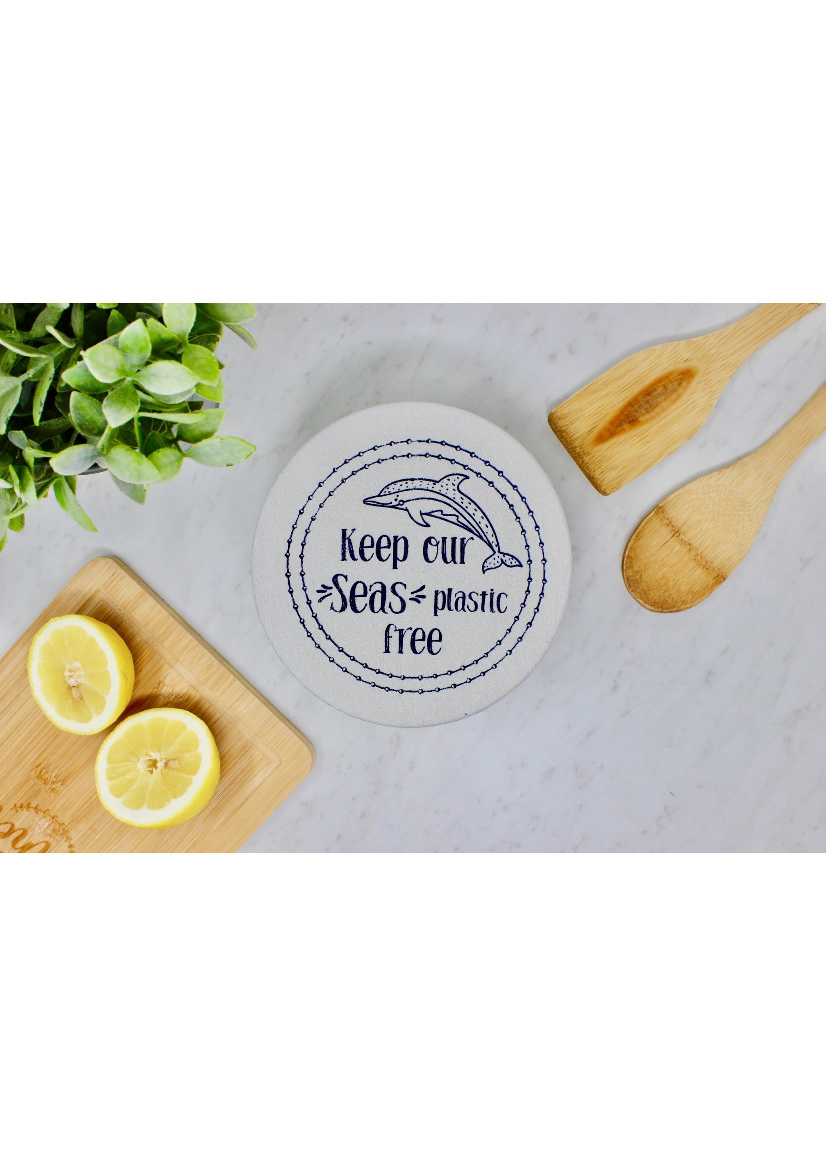 Your Green Kitchen MEDIUM WILD & FREE BOWL COVER-WAXED