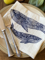 Your Green Kitchen WHALE NAPKIN SET OF TWO