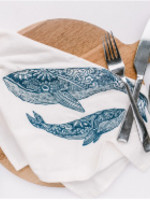 Your Green Kitchen WHALE TEA TOWEL