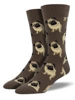 Socksmith Canada Inc MEN'S PUGS SOCKS MNC609-BROWN