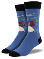 Socksmith Canada Inc MEN'S DRUM SOLO SOCKS MNC598-FOG