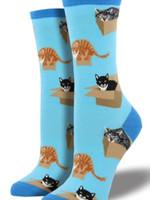 Socksmith Canada Inc WOMEN'S CAT IN A BOX SOCKS WNC765