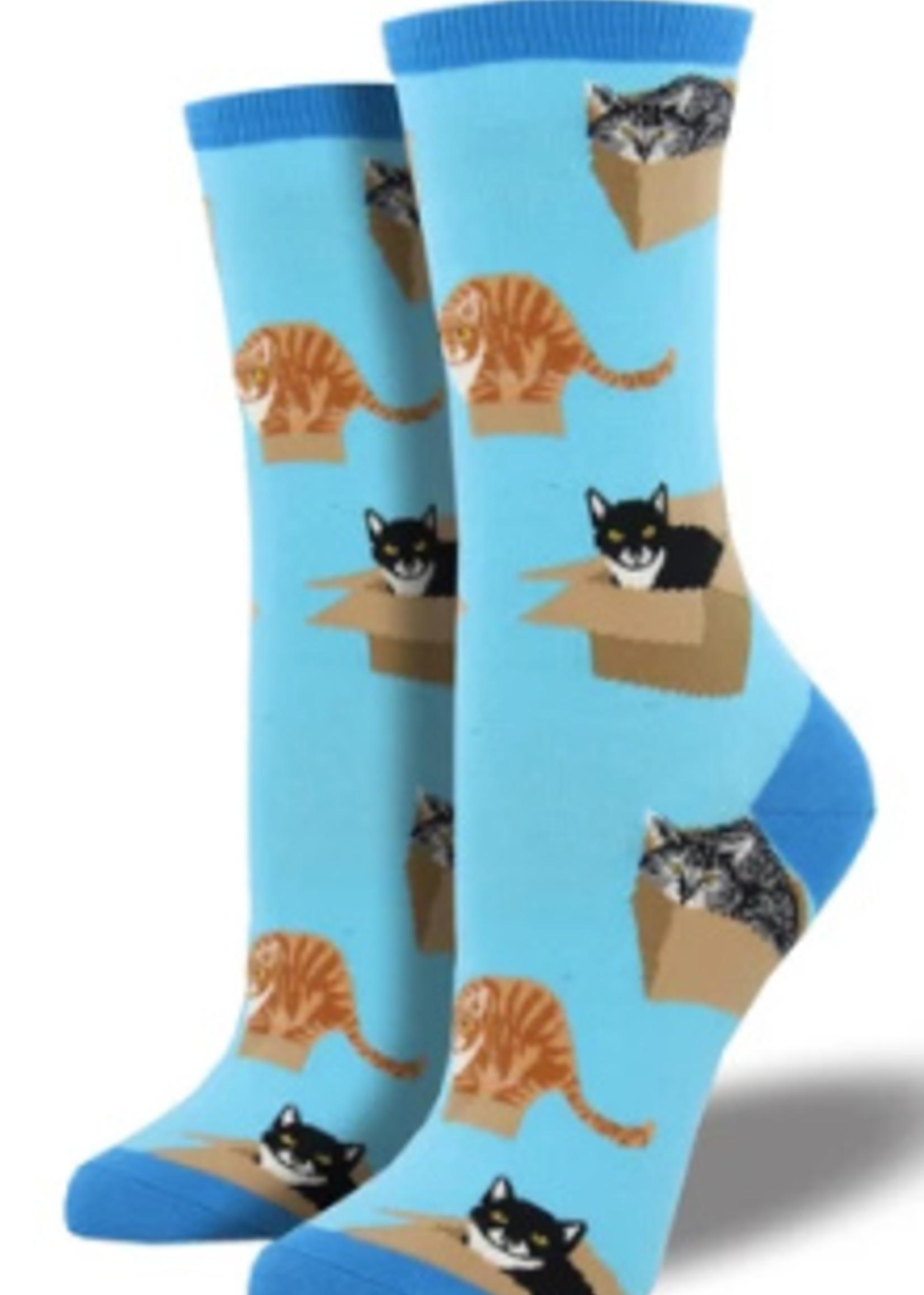 Socksmith Canada Inc WOMEN'S CAT IN A BOX SOCKS