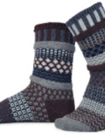 SolMate WOOL CREW SOCKS-MAHOGANY/MULBERRY/WALNUT