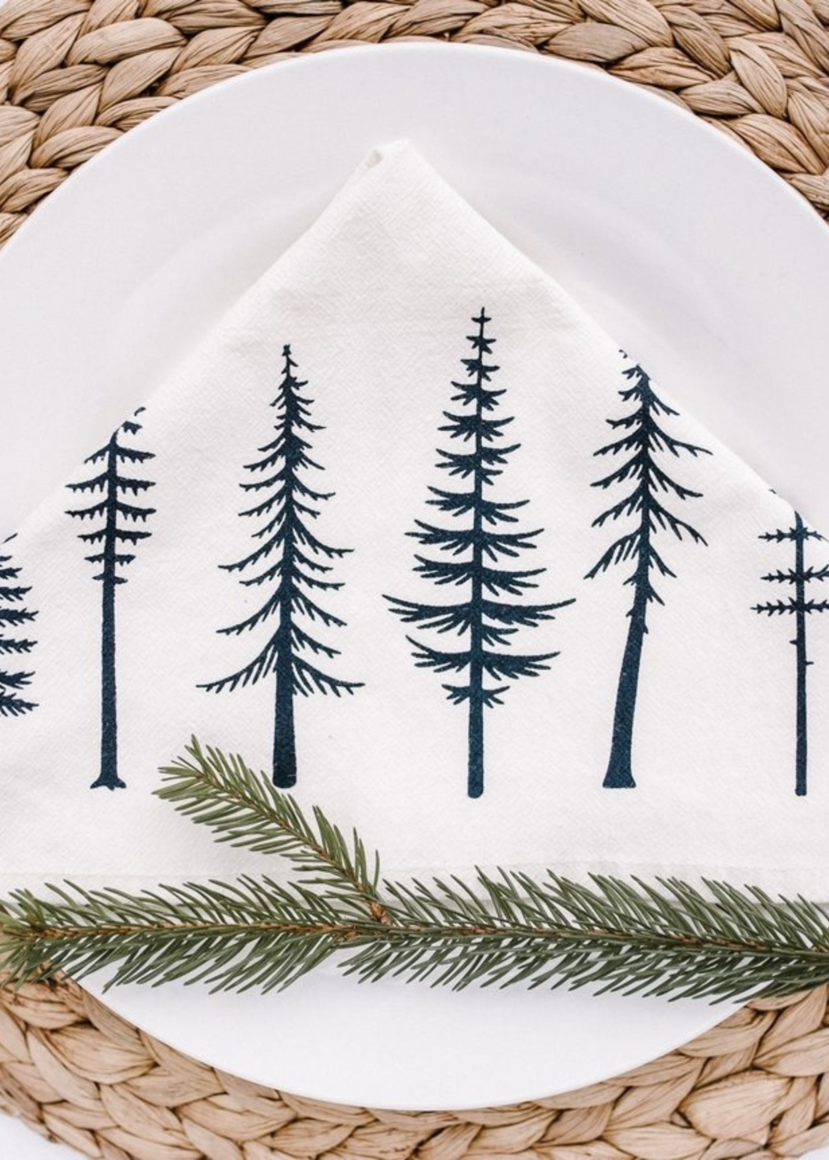 Your Green Kitchen TREES NAPKINS SET OF TWO
