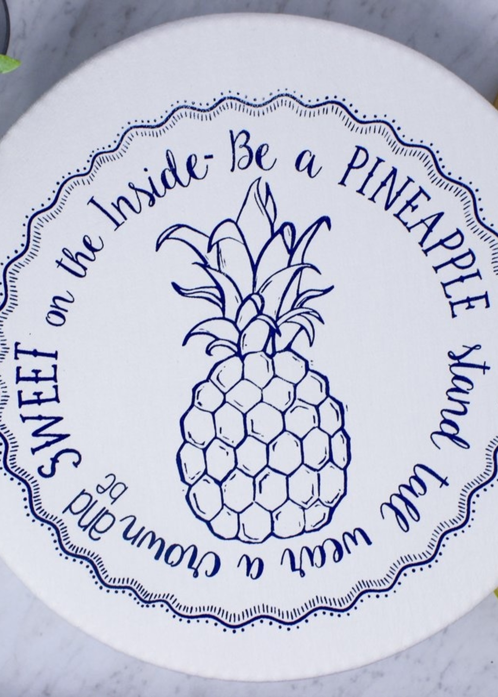 Your Green Kitchen LARGE PINEAPPLE BOWL COVER-UNWAXED