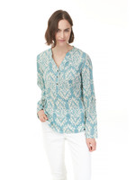 Charlie B COTTON VOILE SHIRT C4254 SEAGREEN