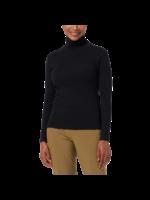 Royal Robbins WOMEN'S KICKBACK ORGANIC COTTON TURTLENECK  Y612019 JET BLACK