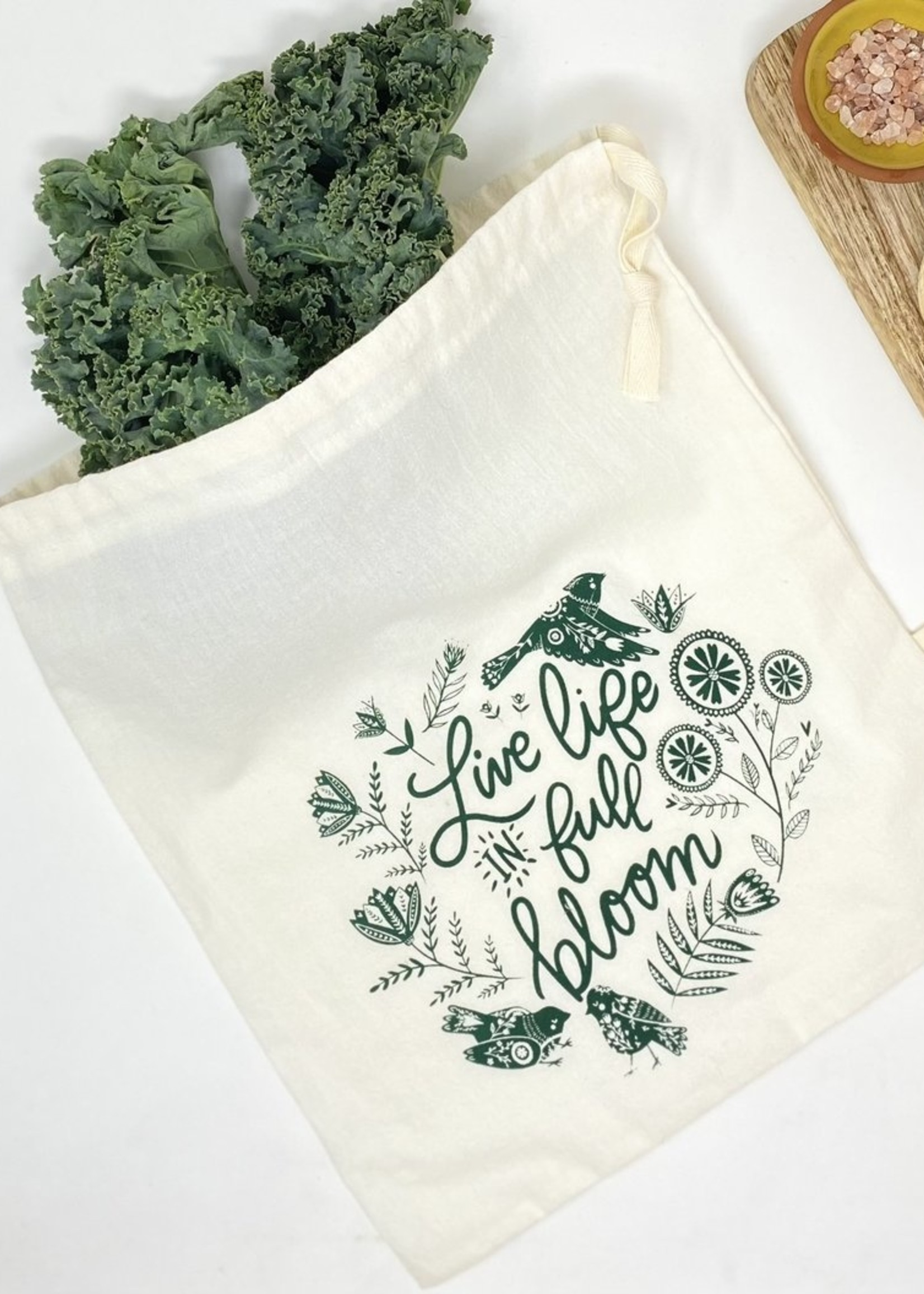 Your Green Kitchen LIVE LIFE IN FULL BLOOM REUSABLE BAG