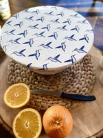 Your Green Kitchen MEDIUM HUMMING BIRDS BOWL COVER-WAXED, UNWAXED