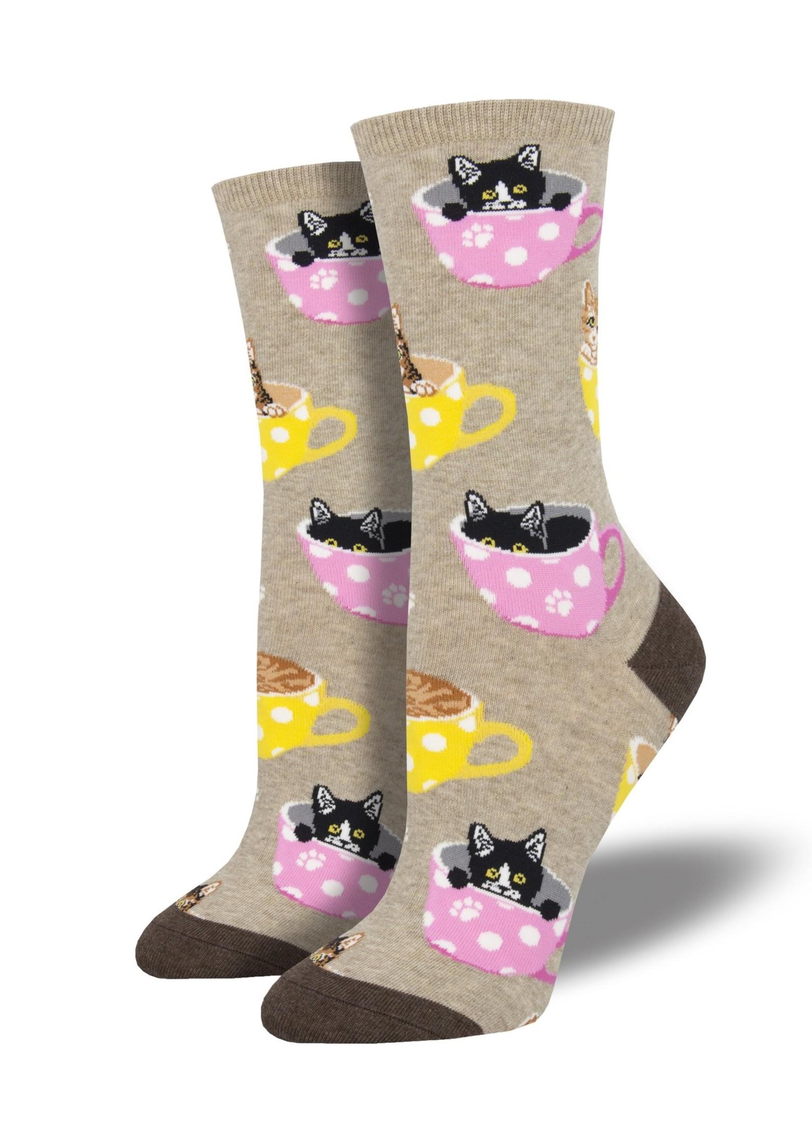 Socksmith Canada Inc WOMEN'S CAT-FEINATED SOCKS