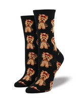 Socksmith Canada Inc WOMEN'S YORKIES SOCKS WNC466-BLK