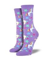 Socksmith Canada Inc WOMEN'S UNICORN SOCKS WNC348-BPP