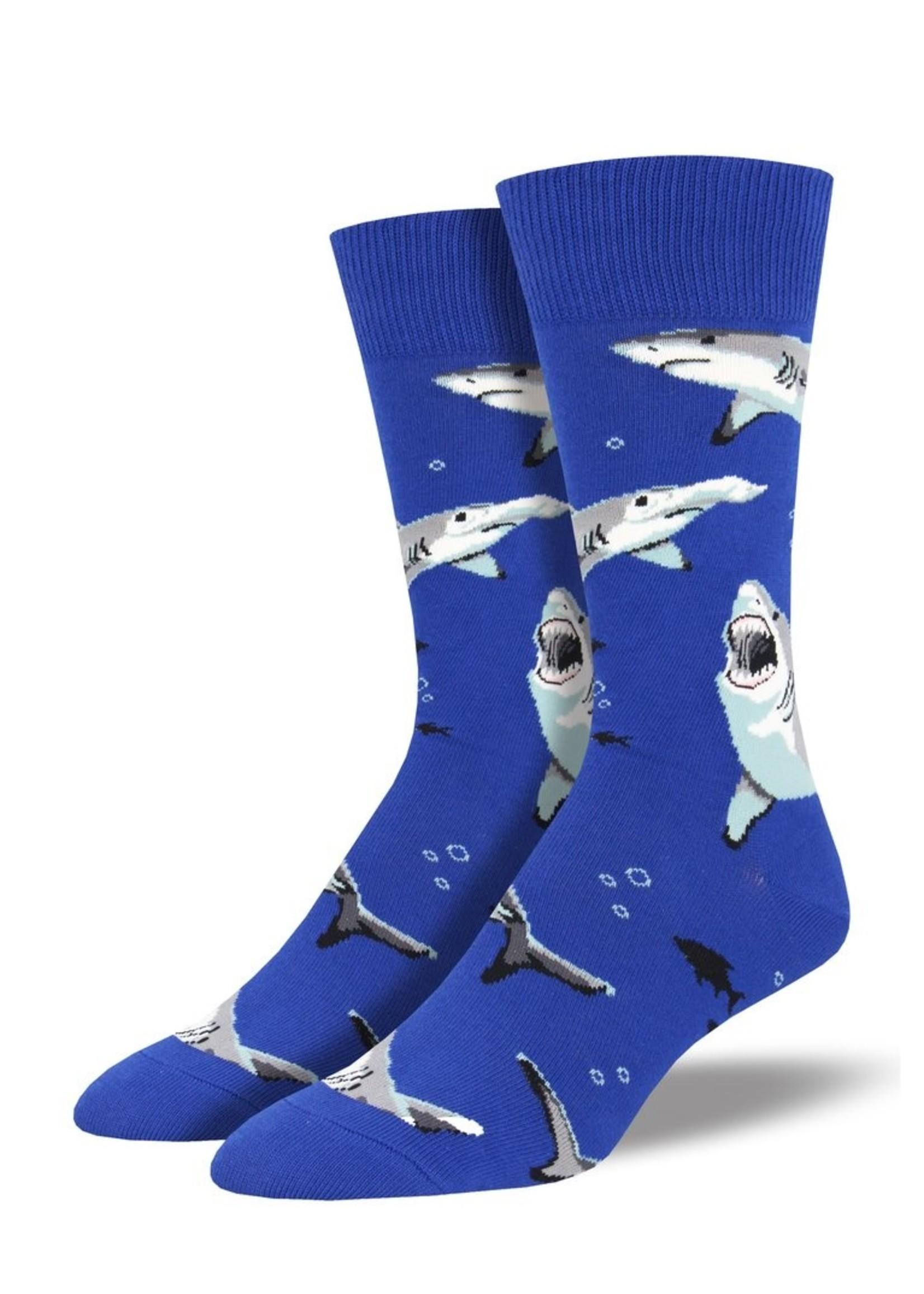 Socksmith Canada Inc MEN'S SHARK CHUMS SOCKS