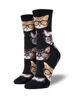 Socksmith Canada Inc WOMEN'S KITTENSTER SOCKS SSW1306-MBU