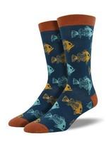 Socksmith Canada Inc MEN'S FISH 'N BONES SOCKS MBN636-SBL