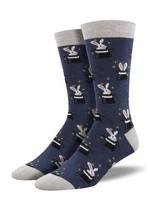 Socksmith Canada Inc MEN'S TRICKY RABBIT SOCKS MBN2317-HNV