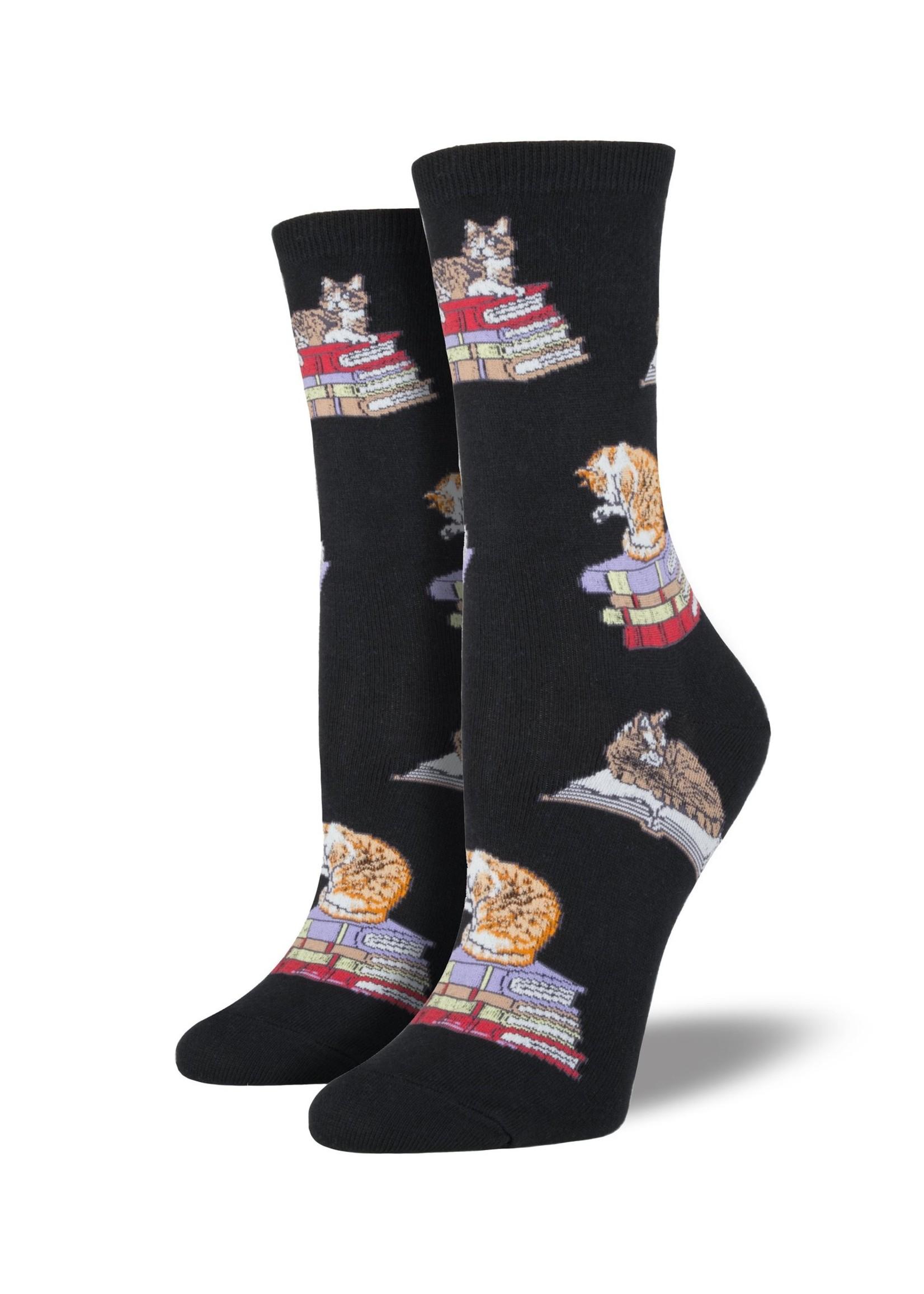 Socksmith Canada Inc WOMEN'S CATS ON BOOKS SOCKS