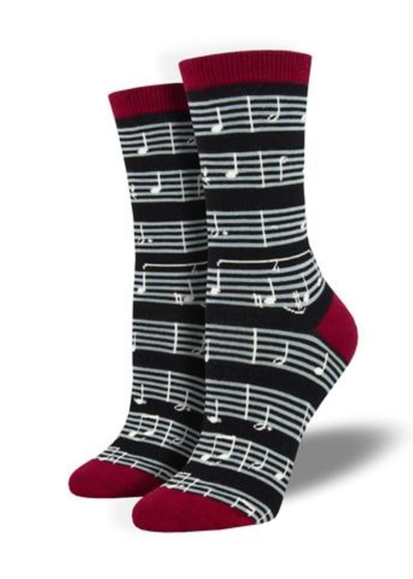 Socksmith Canada Inc WOMEN'S SHEET MUSIC SOCKS