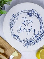 Your Green Kitchen MEDIUM LIVE SIMPLY BOWL COVER-UNWAXED