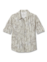 Royal Robbins WOMEN'S EXPEDITION II PRINT 3/4 SLEEVE Y322024-130 CREME SIMMER