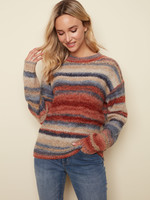 Charlie B SPACE DYED SWEATER C2389 GINGER