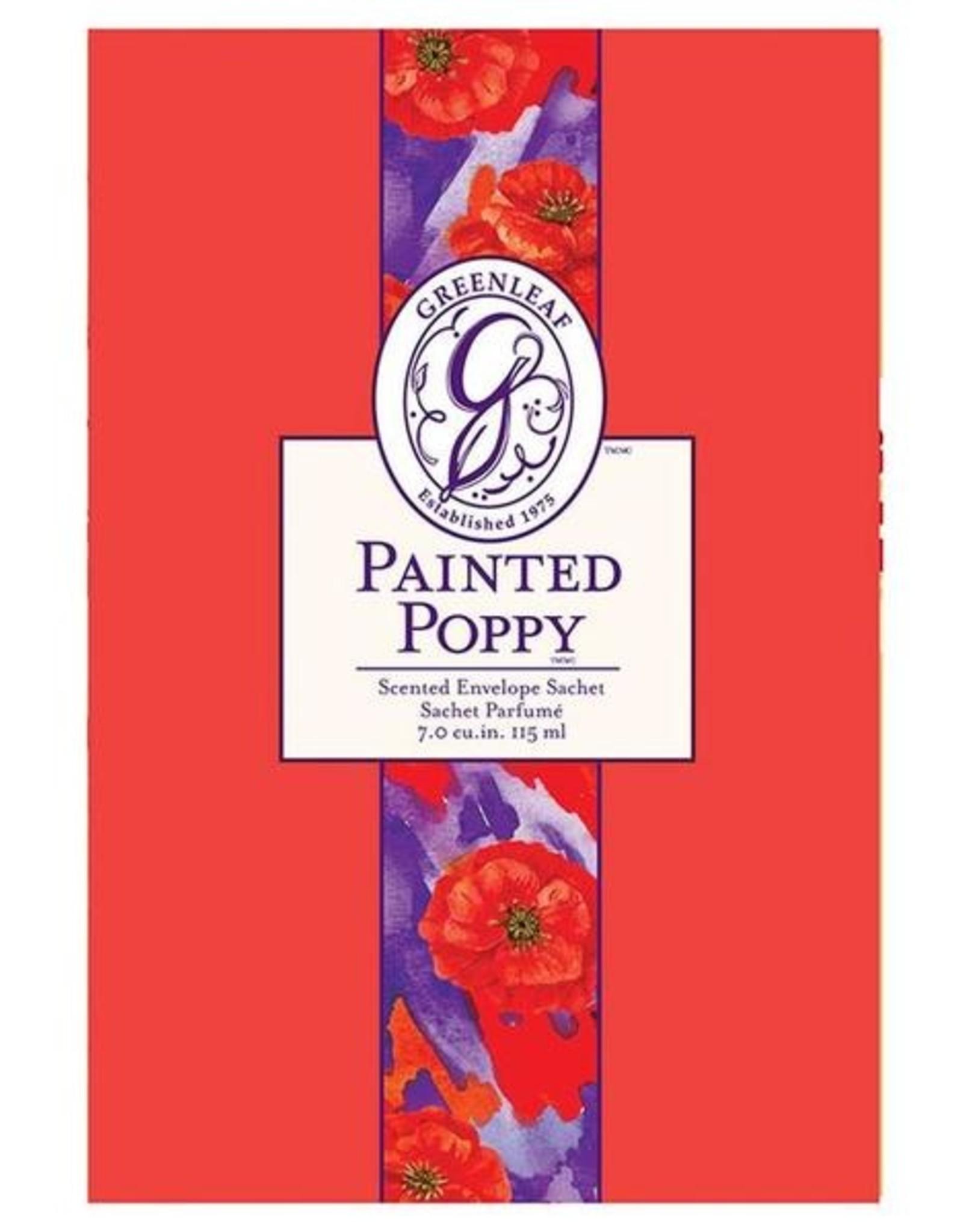 Greenleaf Greenleaf LG Sachet Painted Poppy