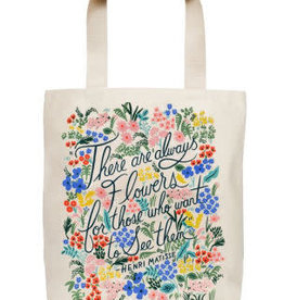 Rifle Paper Co. Rifle Paper Seeing Flowers Tote Bag