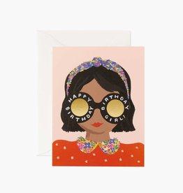 Rifle Paper Co. Rifle Paper Headband Birthday Girl Card