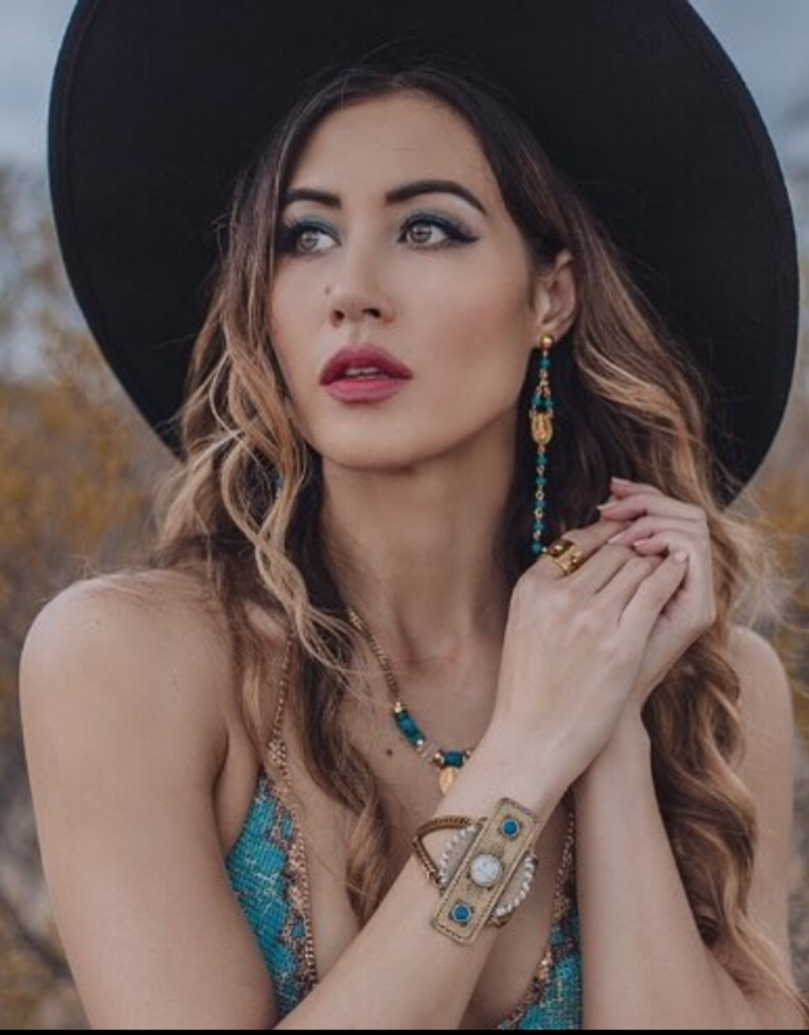 Artifacts Hendrix Earrings- Turquoise
