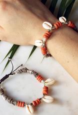 Artifacts Tahiti Brown & Orange Shell Bracelet