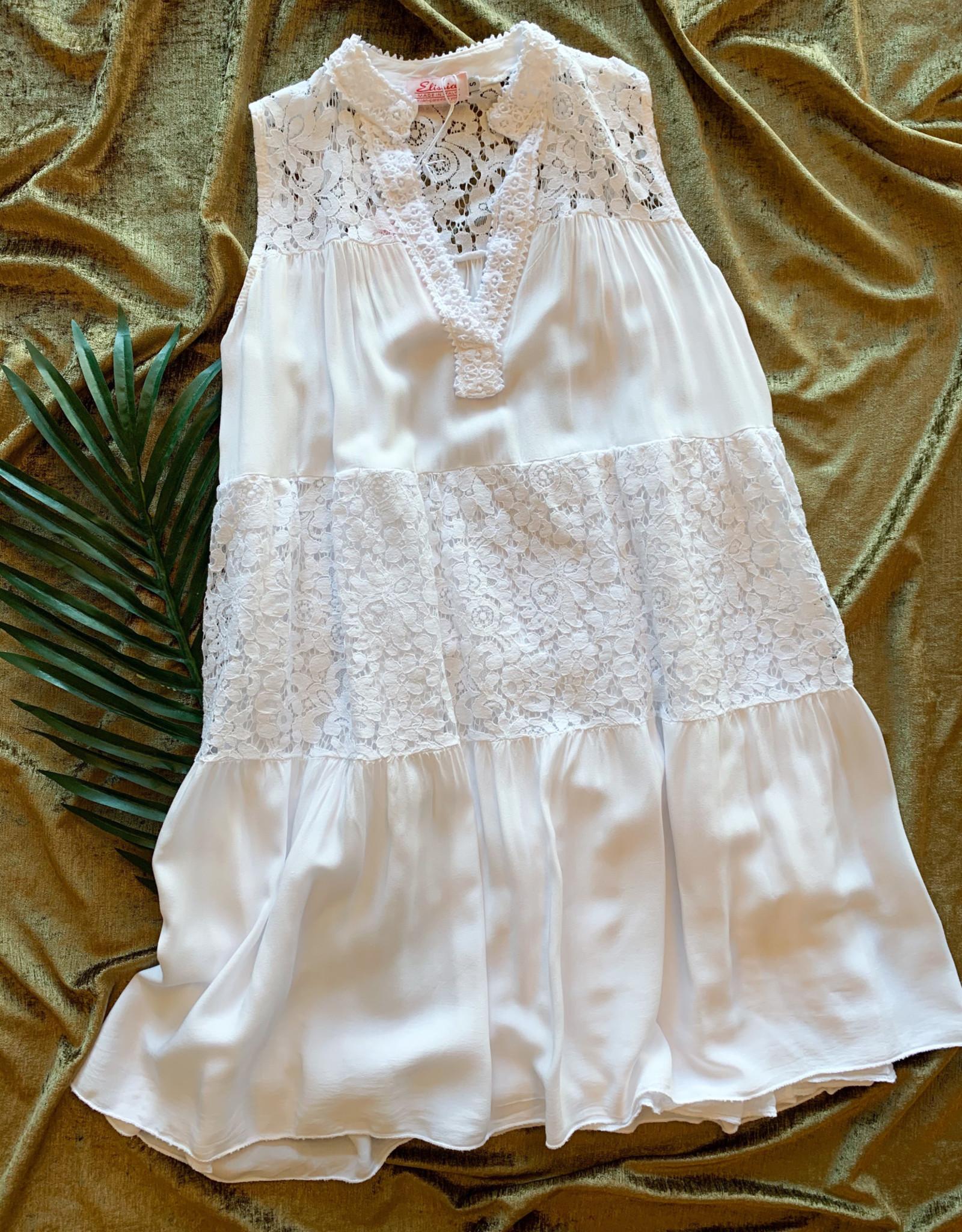 Elissia Europe Boho Layered Lace V Neck Tunic/ Dress