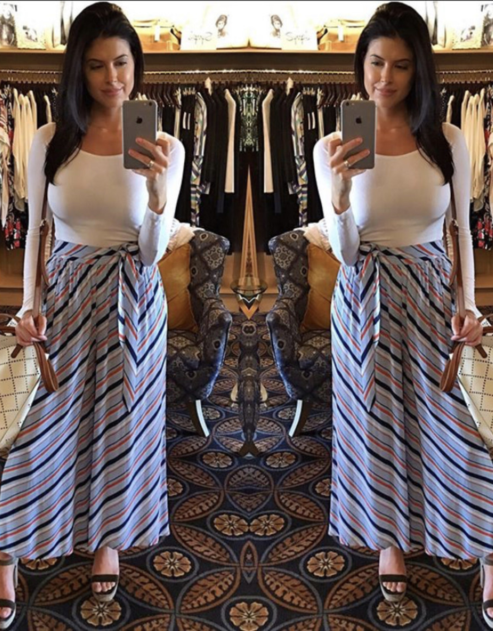 SOAKED Cutie Striped Gaucho Pants
