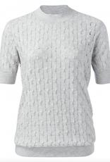 YAYA Short Sleeve Knit Sweater