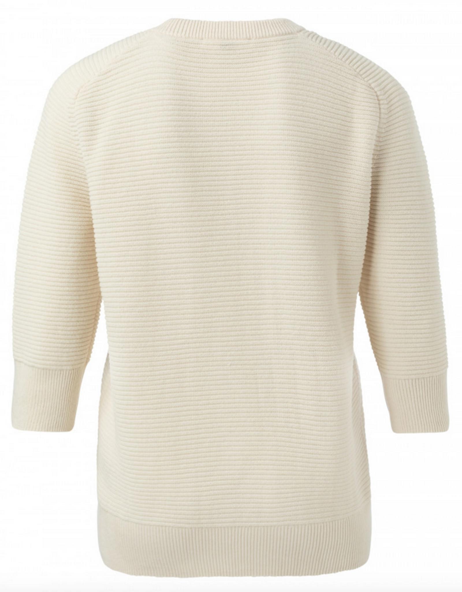 YAYA Mix Ribbed Sweater
