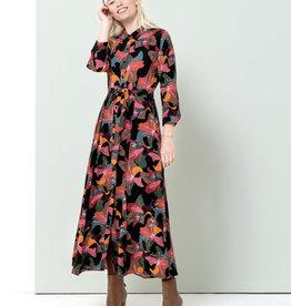 Zilch Bold Floral Button Down Dress